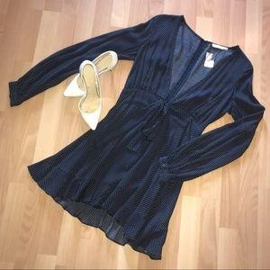 Dresses & Skirts - Navy Blue Polka Dot Dress